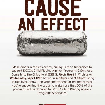 Chipotle Fundraiser for DCCCA CPA in Wichita